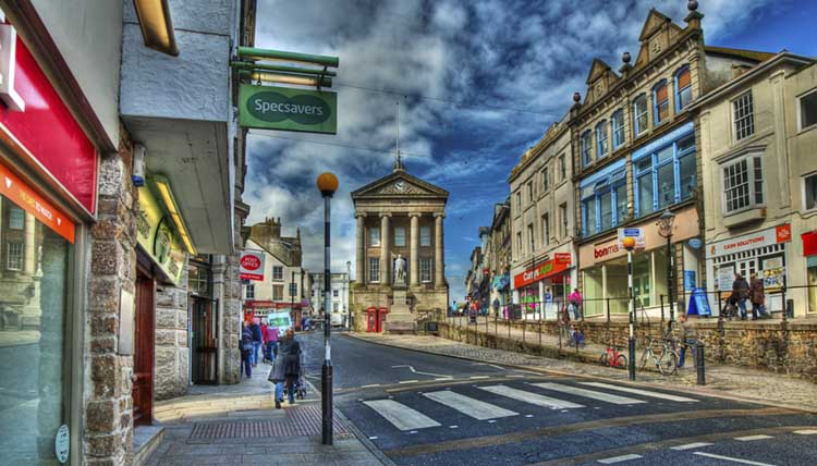 [Penzance - Market Jew Street, Looking Up]