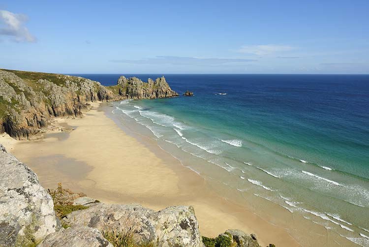 [Porthcurno - Pedn Vounder Beach and the Logan Rock #2]