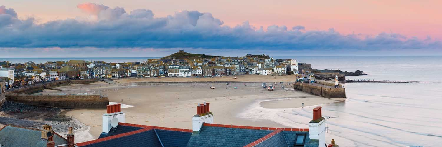 [St Ives Harbour Sunset Panorama]