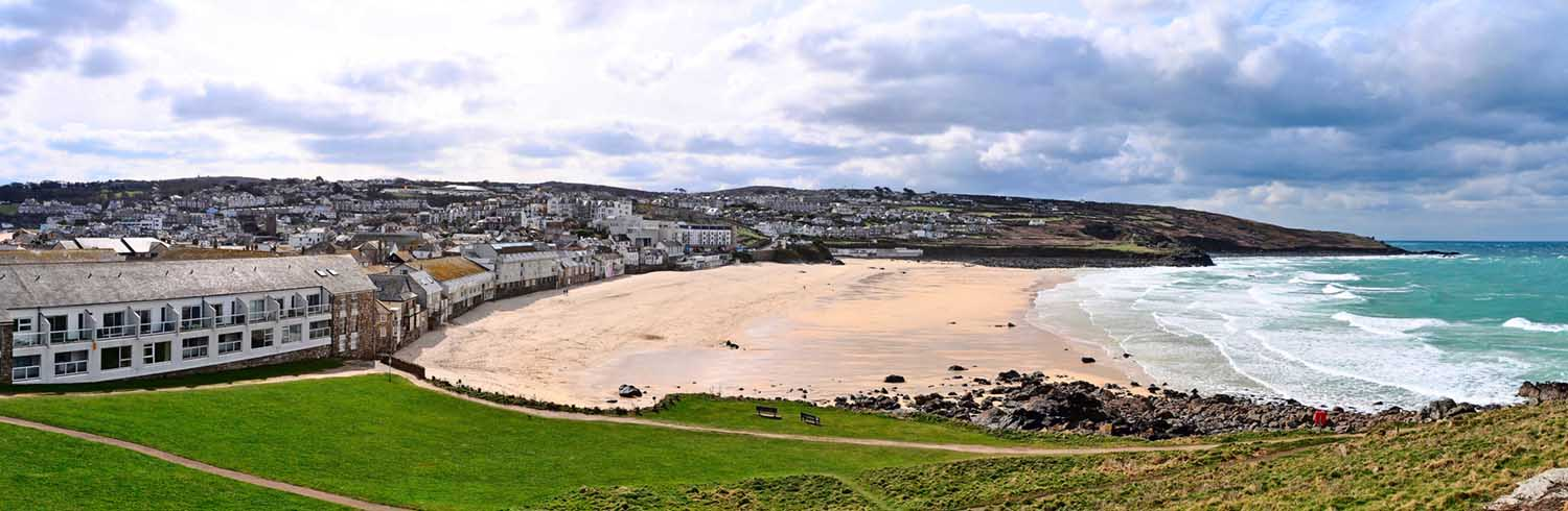 [Porthmeor Beach from the Island Panorama]