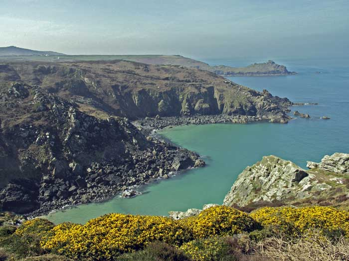 [Zennor Cliffs, Pendour and Veor Coves, looking toward Gurnard's Head, Cornwall]